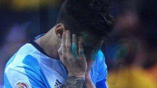 Las lágrimas de Messi tras perder una nueva final