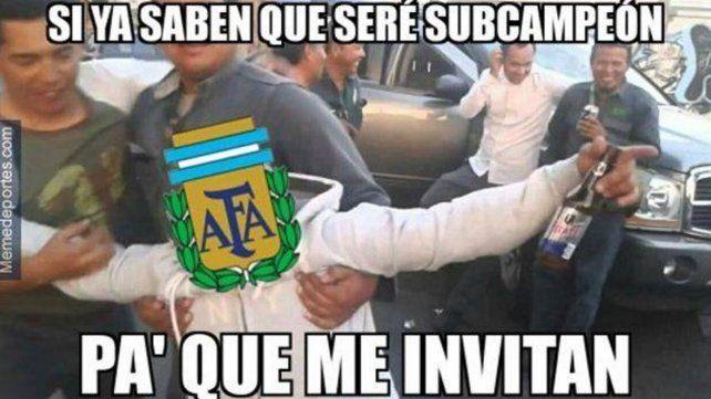 Las infaltables memes tras la derrota argentina en la final de la Copa
