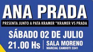Diario UNO te invita a ver el recital de Ana Prada