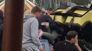 Terror en la montaña rusa: un vagón descarriló y cayó nueve metros
