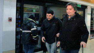 Tres hijos de Báez viajaron hoy a Buenos Aires en el mismo vuelo que Máximo Kirchner