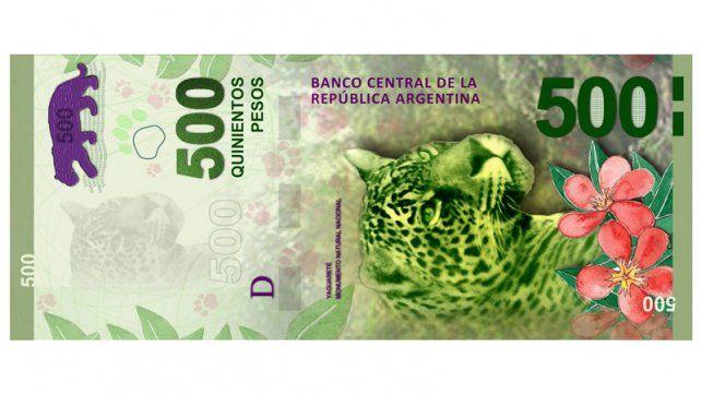Los billetes de 500 pesos estarán en la calle a partir de este jueves
