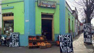 #NoTeVayasLio: Una verdulería le pide a Messi que no se vaya de una forma muy particular