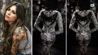 Después del drama, Cande Tinelli aclaró el por qué de su último tatuaje