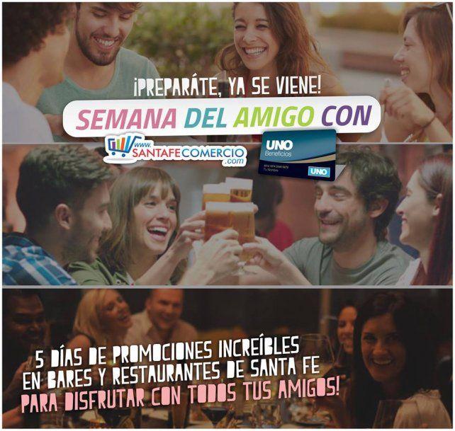 Festejá el Día del Amigo con Beneficios UNO y Santafecomercio.com
