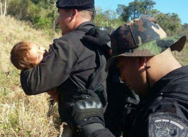 Apareció con vida el nene de dos años que había desaparecido en un yerbatal en Misiones
