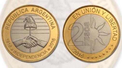Lanzan una moneda de $2 para conmemorar el Bicentenario de la Independencia