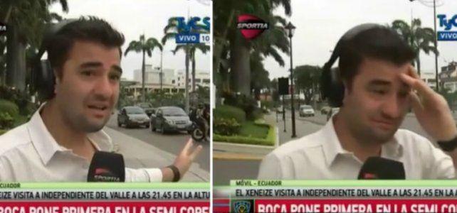 Periodista casi es testigo de una tragedia ¡mientras salía al aire!