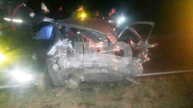 Choque frontal con siete heridos en el acceso a Villa Guillermina