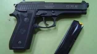 Imagen ilustrativa del arma secuentrada.