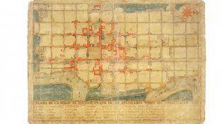 Plano de la capital provincial en 1824