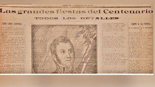 El titular central del 9 de julio de 1916 en las páginas del diario Santa Fe.