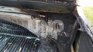 Registran a un quemacoches en acción en barrio Candiotti