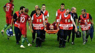 Cristiano salió lesionado y lloró del dolor