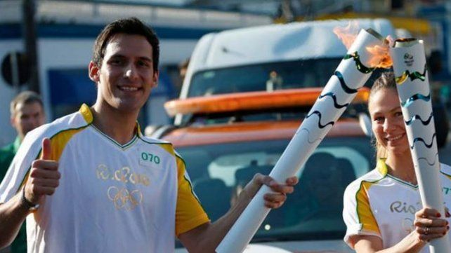 Crismanich transportó la antorcha olímpica