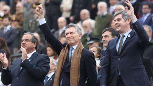 Al final, Mauricio Macri asistió al cierre del desfile militar en el Campo de Polo
