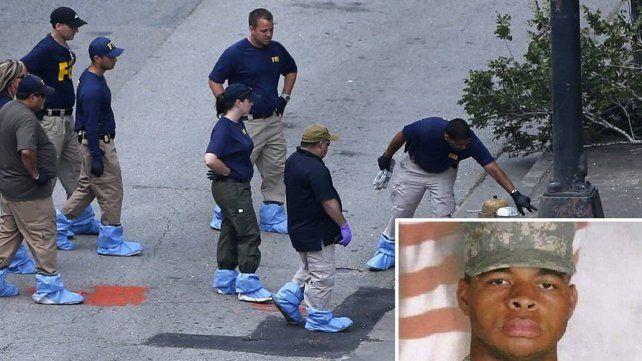 El tirador de Dallas escribió en una pared con su sangre antes de morir