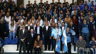 El presidente Macri saludó a los deportistas que competirán en los Juegos Olímpicos