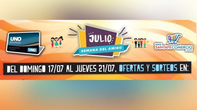 Festejá la Semana del Amigo con Beneficios UNO y Santafecomercio.com