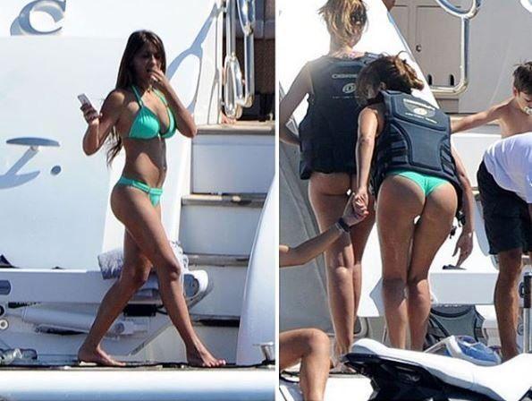 Las fotos robadas de Antonella Roccuzzo en bikini