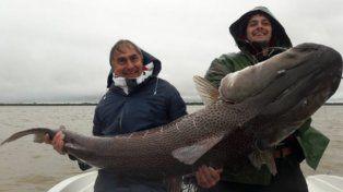 Así fue la pesca del surubí gigante