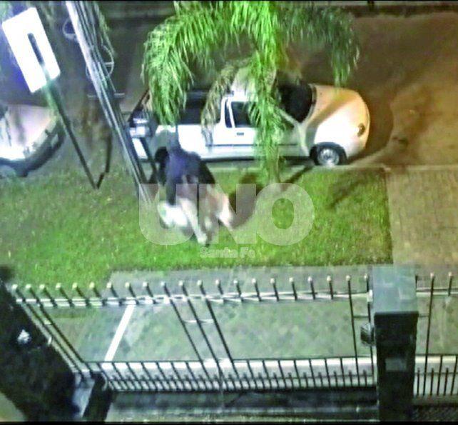 Video. El autor del hecho quedó registrado en varias cámaras de seguridad y ahora es intensamente buscado por la Justicia.