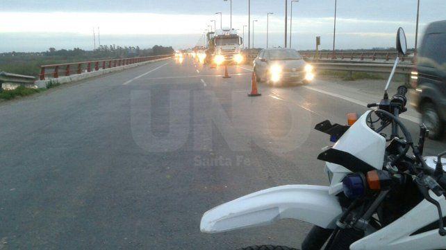 Después de una hora se pudo finalmente liberar el tránsito sobre la AU Santa Fe-Rosario
