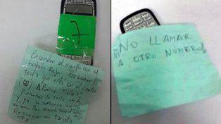 Las misteriosas instrucciones de uso en el celular de José López