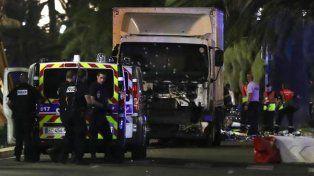 El camión del ataque. Las autoridades informaron que el conductor fue abatido (AFP)