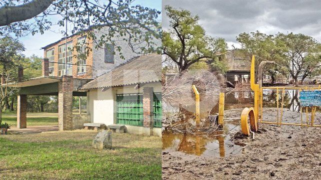 El predio de Los Guácharos. El antes y el después de las últimas inundaciones.