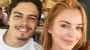Lindsay Lohan publicó una foto con su novio en la cama