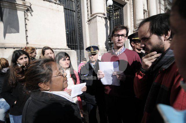 Desacuerdo. La familias y organizaciones se manifestaron en contra del traslado de las presas