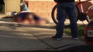 El femicida intentó quitarse la vida y atravesó la puerta del local