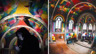 Convirtieron una iglesia de más de 100 años en un colorido skate park