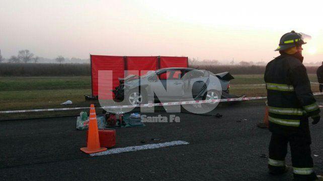 Funes: choque fatal en la autopista Rosario - Córdoba