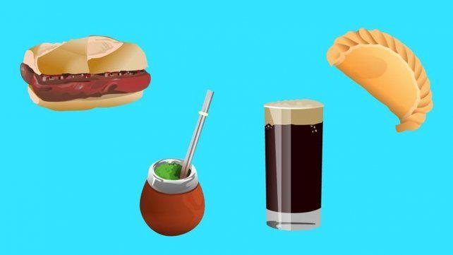 Buscan un emoticón para el fernet, la empanada y el choripán
