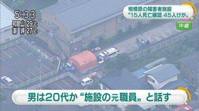 Masacre en Japón: Al menos 19 muertos y 45 heridos en un ataque con cuchillo