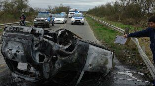 Impresionante accidente en la ruta 6 en Esperanza