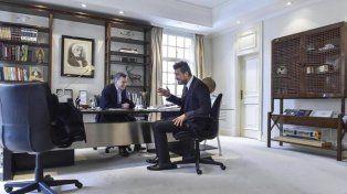 Mauricio Macri recibió a Marcelo Tinelli y hasta bromearon en Snapchat