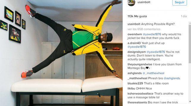 ¡Es imposible! La foto de Bolt de la que todo el mundo habla