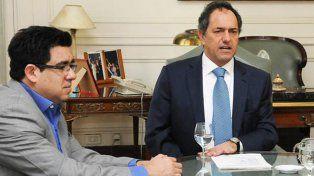 Alejandro Arlía junto a Daniel Scioli (NA)