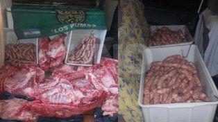 Secuestraron decenas de productos y carne de cerdo no apto para consumo humano