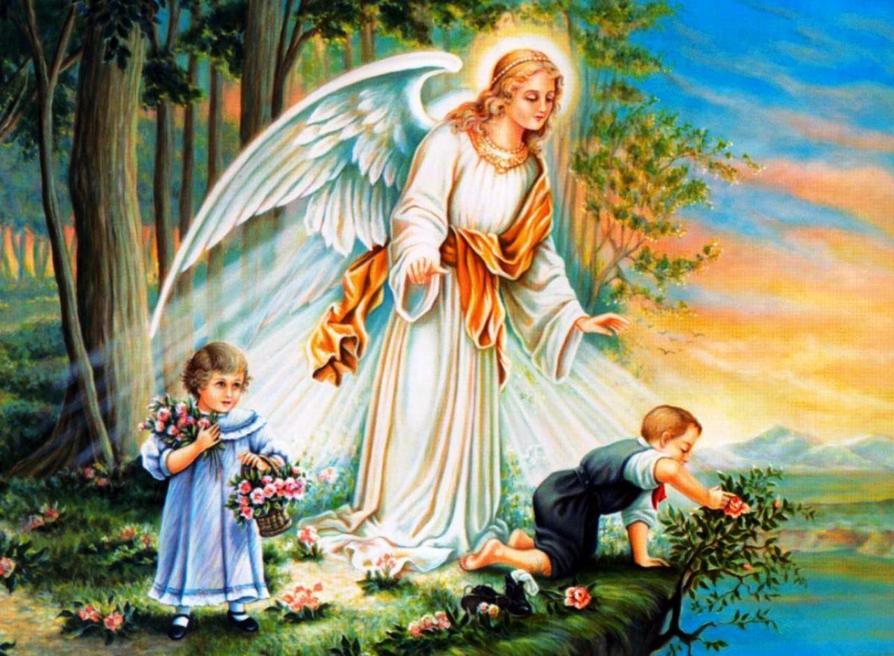 imágenes de ángeles de la guarda protegiendo niños guardian