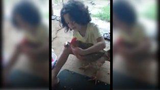 El video de la nena que peina a su gallina, furor en las redes