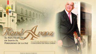 René Araoz presentará El Papa Francisco, peregrino de la paz