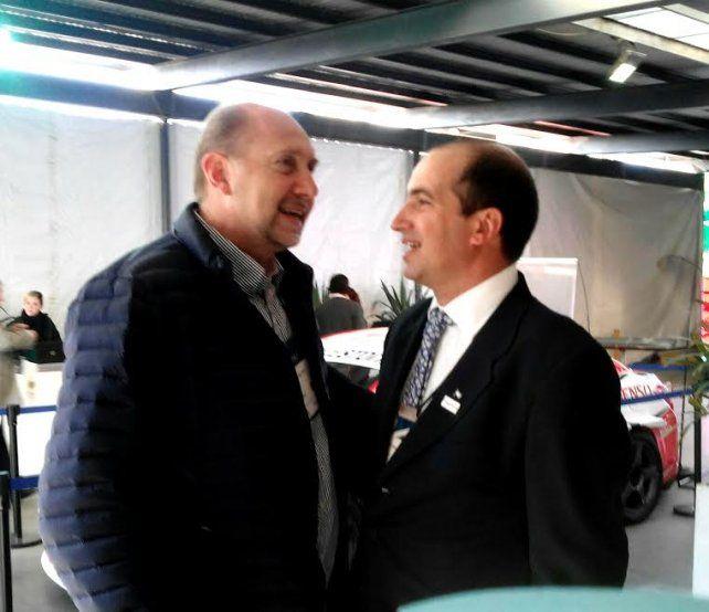 En Rosario. Perotti y Pedro Vigneau
