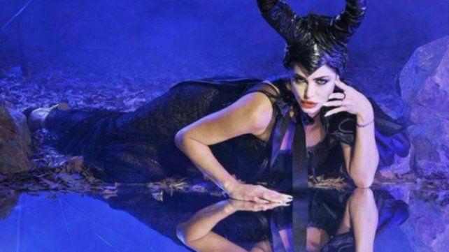 Pamela David se puso en la piel de Angelina Jolie como Maléfica