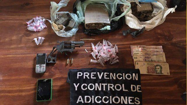 Secuestraron marihuana y detuvieron a un vendedor barrial de drogas