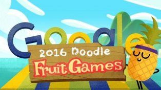 Siete juegos escondidos en el doodle de Google: los Frutijuegos de Río 2016