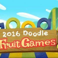 siete juegos escondidos en el doodle de google: los frutijuegos de rio 2016